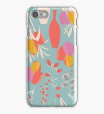 Spring flower pattern, tulips and lilies, 004 iPhone Case/Skin