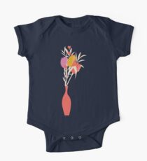 Spring flower pattern, tulips and lilies, 004 One Piece - Short Sleeve