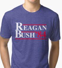 Reagan Bush '84 Retro Logo Red White Blue Election Ronald George 1984 84 Tri-blend T-Shirt