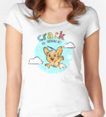 Pipo-Kun - Crack is Whack! - Distressed Women's Fitted Scoop T-Shirt