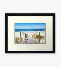 Idyllic sand beach  Framed Print