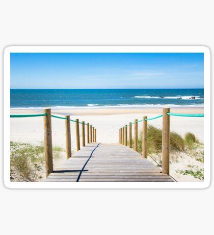 Idyllic sand beach  Sticker