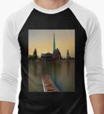Swan Bell Tower - Perth Western Australia Men's Baseball ¾ T-Shirt