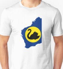 Flag Map of Western Australia Unisex T-Shirt
