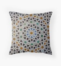 Traditional moroccan mosaic Throw Pillow