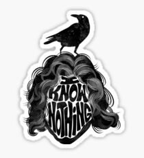 I Know Nothing Sticker