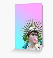 Vaporwave Seapunk Cool Style 3D Greeting Card