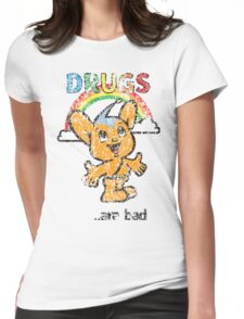 Pipo-Kun - Drugs Are Bad - Distressed Womens Fitted T-Shirt