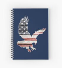 American Flag, Patriotic Eagle Spiral Notebook