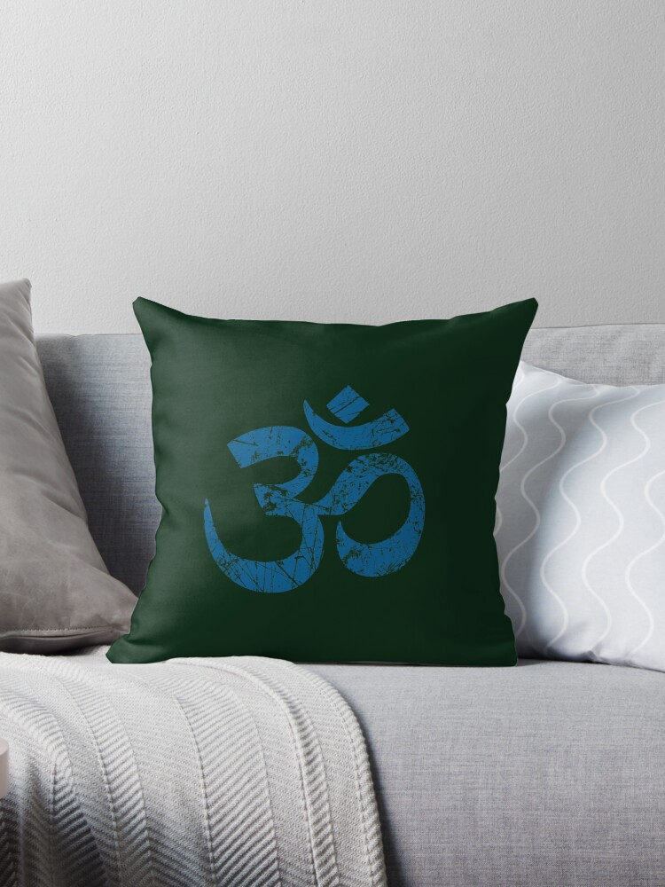 OM Yoga Spiritual Symbol in Distressed Style by Garaga