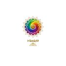 Rainbow Lotus Om Namaste by Lilyas