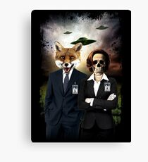 Fox and Skully Canvas Print