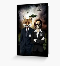 Fox and Skully Greeting Card