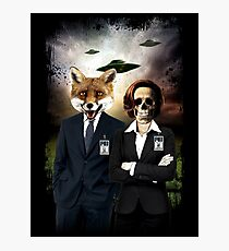 Fox and Skully Photographic Print