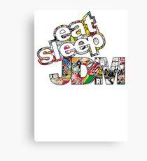 EAT SLEEP JDM DESIGN Canvas Print