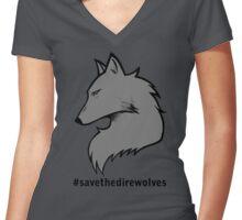 #SavetheDirewolves Women's Fitted V-Neck T-Shirt
