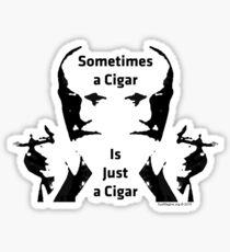 Sometimes a Cigar is Just a Cigar Glossy Sticker