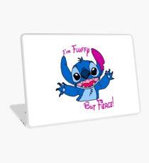 Stitch - Fluffy but fierce Laptop Skin