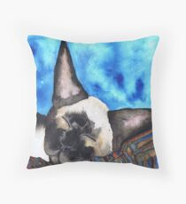 SLEEPING SIAMESE Throw Pillow