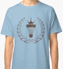 Silhouette badminton racket shuttle Classic T-Shirt