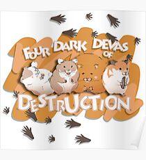 Danganronpa - Four Dark Devas of Destruction Poster