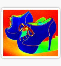 Psychedelic stiletto heels 1  Sticker