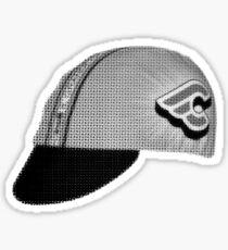 fixed gear mash hat Sticker