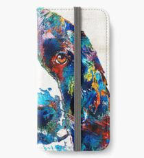 Colorful English Springer Spaniel Dog by Sharon Cummings iPhone Wallet/Case/Skin