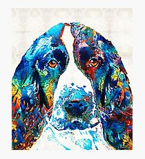Colorful English Springer Spaniel Dog by Sharon Cummings Photographic Print