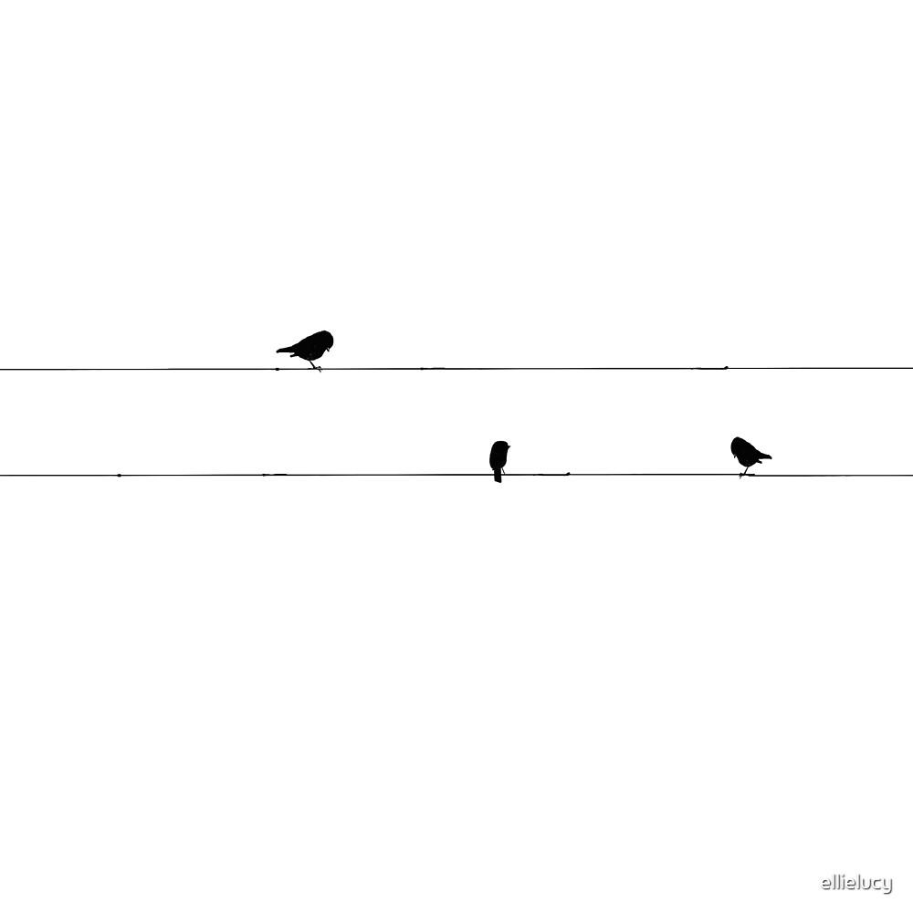 Sticker Oiseaux Sur Un Fil oiseaux sur un fil » par ellielucy | redbubble
