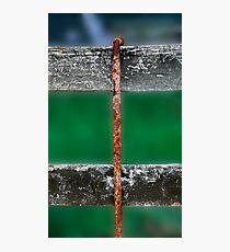 Rusty Straight Wire Photographic Print