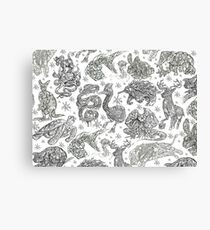 Animal Find-a-Thing Pattern Canvas Print