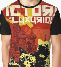 CCCP POSTER: COMMUNIST CAT COMRADE POOF Graphic T-Shirt