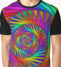 Rainbow Psychedelic Spiral Fractal  Graphic T-Shirt
