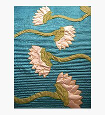 White Lotus Blue Quilt Finished! Photographic Print