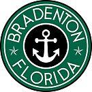 BRADENTON FLORIDA ROUND NAUTICAL STAR ANCHOR by MyHandmadeSigns