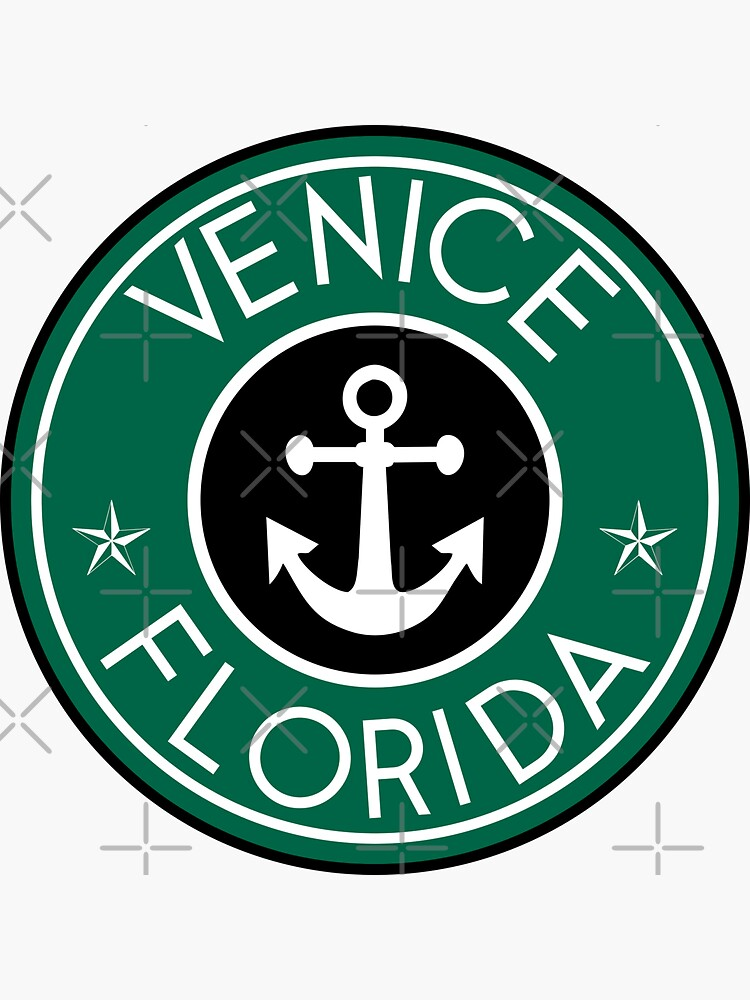 VENICE FLORIDA RUNDE NAUTISCHE STAR ANKER von MyHandmadeSigns