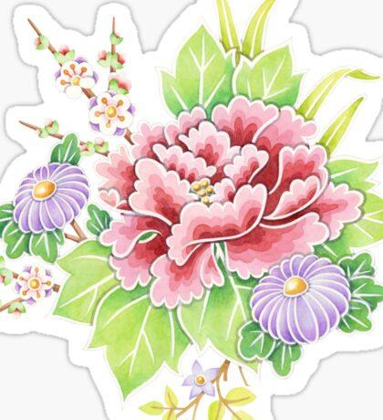 Kimono Bouquet Ditsy Chintz Sticker