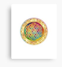The Flower of Life - light with framing Canvas Print