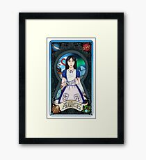 Alice Madness Returns Tarot Card Framed Print