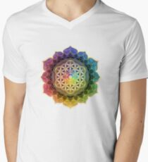 Rainbow Flower of Life with Lotus T-Shirt