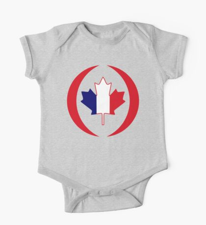 French Canadian Multinational Patriot Flag Series Kids Clothes