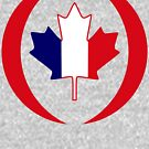 French Canadian Multinational Patriot Flag Series by Carbon-Fibre Media
