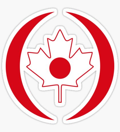 Japanese Canadian Multinational Patriot Flag Series Sticker