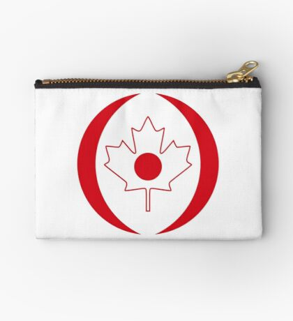 Japanese Canadian Multinational Patriot Flag Series Zipper Pouch
