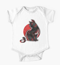 Artistic Abstract Black Cat with 3D effect Kids Clothes