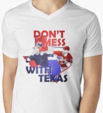 Texas Rangers Punch Men's V-Neck T-Shirt