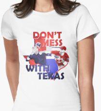 Texas Rangers Punch Women's Fitted T-Shirt