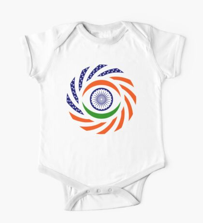 Indian American Multinational Patriot Flag Series Kids Clothes