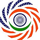 Indian American Multinational Patriot Flag Series by Carbon-Fibre Media